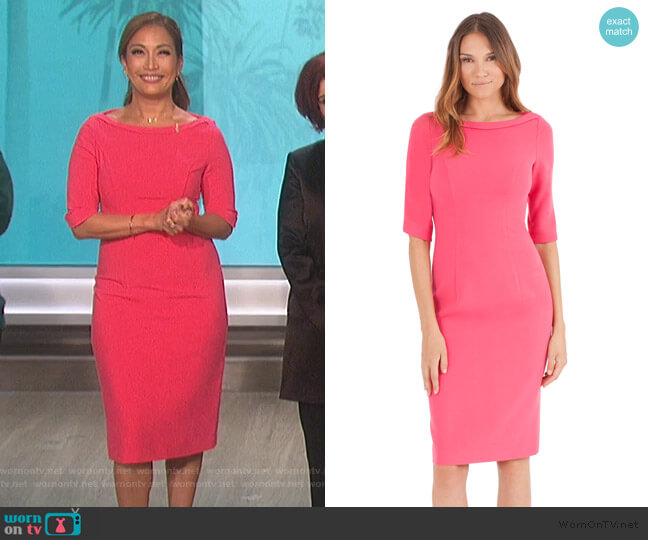 Nuelle Sheath Dress by Black Halo worn by Carrie Inaba  on The Talk