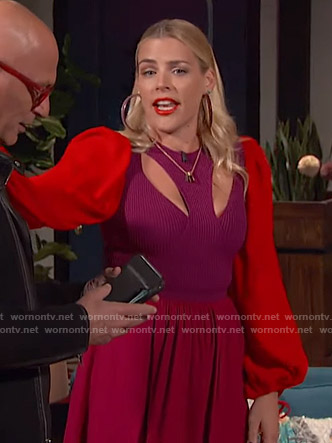 Busy's colorblock cutout dress on Busy Tonight