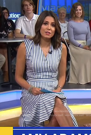 Cecilia's blue striped wrap dress on Good Morning America