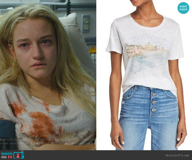 Cassandra Graphic Tee by Paige worn by Terra Newell (Julia Garner) on Dirty John
