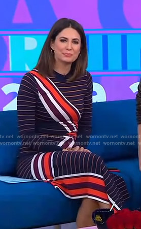 Cecilia's striped asymmetric dress on Good Morning America