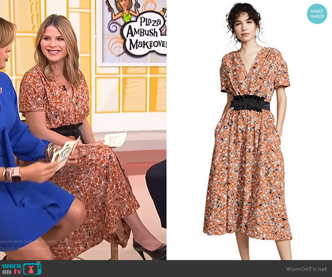 Floral Dress by Cedric Charlier worn by Jenna Bush Hager  on Today