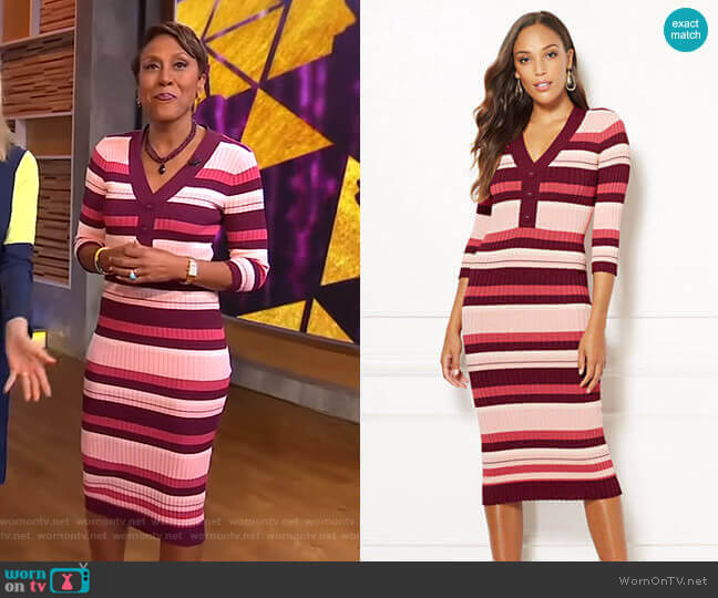 Cherelle Dress - Eva Mendes Collection by New York & Company worn by Robin Roberts (Robin Roberts) on Good Morning America