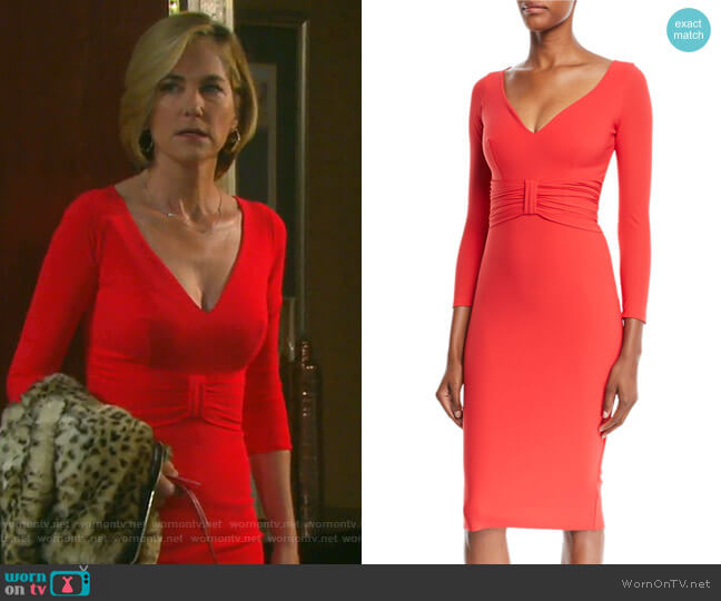 Claudetta Dress by Chiara Boni La Petite Robe worn by Eve Donovan (Kassie DePaiva) on Days of our Lives
