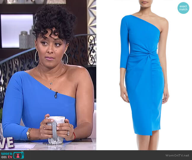 Tristin Dress by Chiara Boni La Petite Robe worn by Tamera Mowry (Tamera Mowry) on The Real