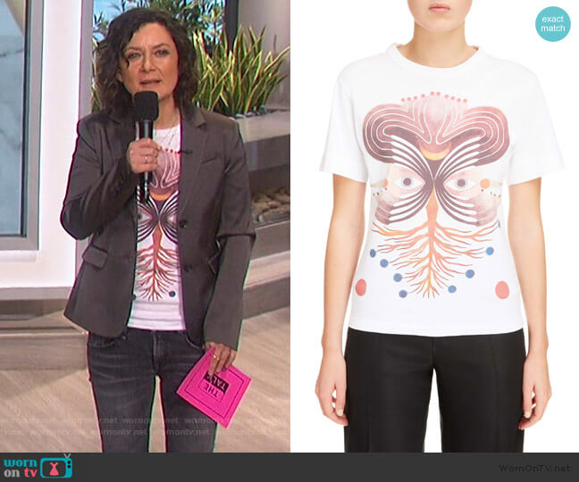 Eye Print Graphic Tee by Chloe worn by Sara Gilbert  on The Talk