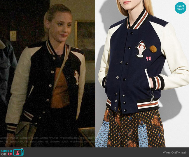 Coach Varsity Jacket worn by Betty Cooper (Lili Reinhart) on Riverdale