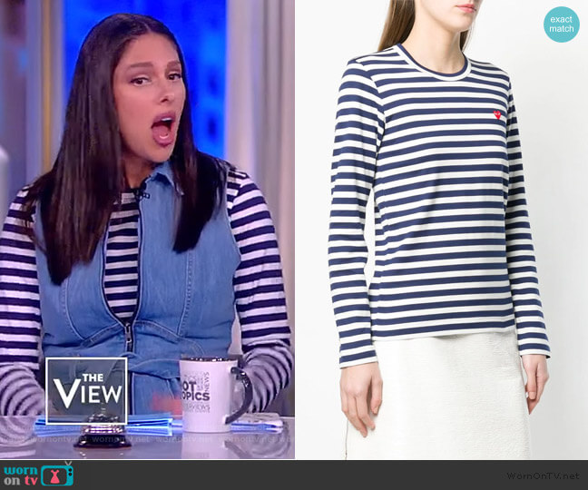 Striped Print Jersey by Comme Des Garcons Play worn by Abby Huntsman  on The View