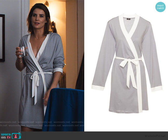 Bella Bridal Robe by Cosabella worn by Lisa Turner (Cobie Smulders) on Friends from College