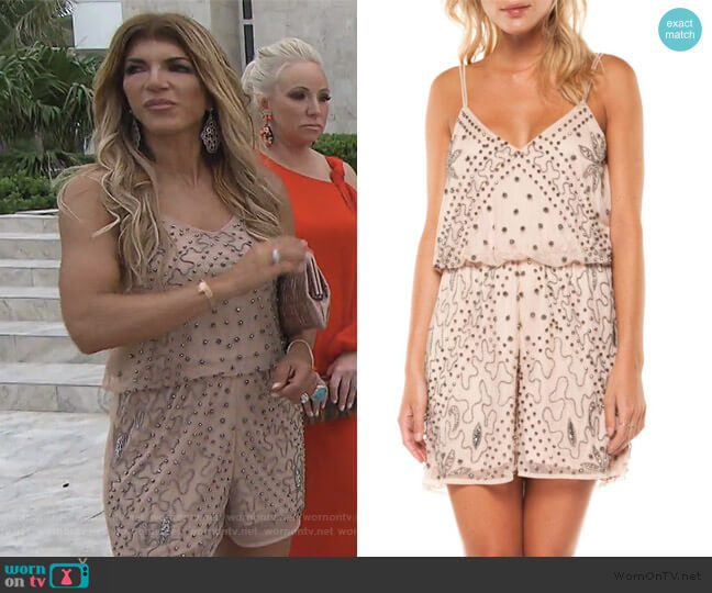 Embellished Romper by Dex worn by Teresa Giudice  on The Real Housewives of New Jersey