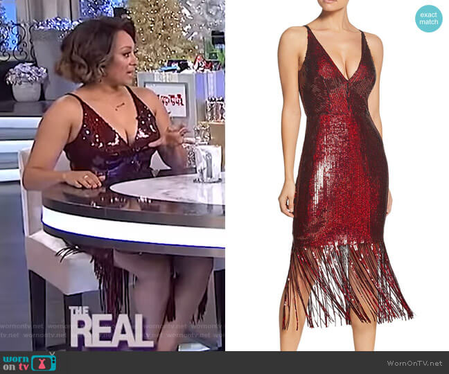 Frankie Dress by Dress the Population worn by Tamera Mowry  on The Real