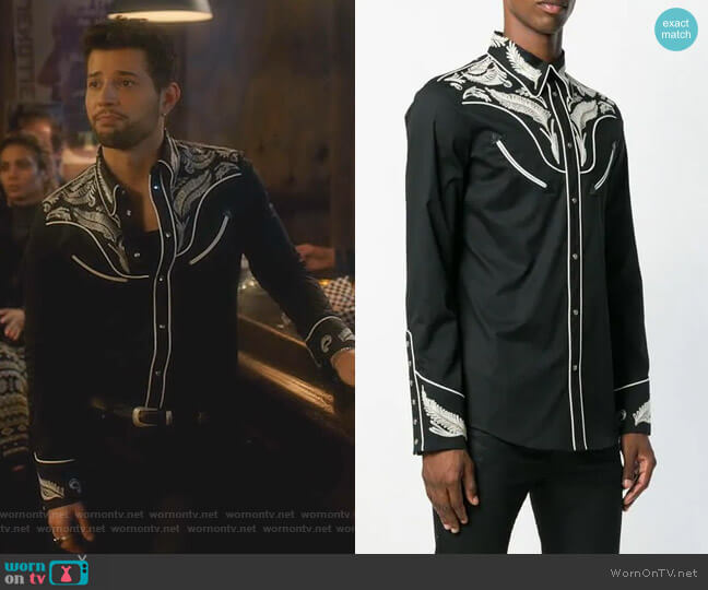 Classic Cowboy Shirt by Dsquared2 worn by Sam Flores (Rafael de la Fuente) on Dynasty