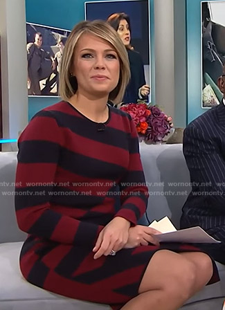 Dylan's striped asymmetric dress on Today
