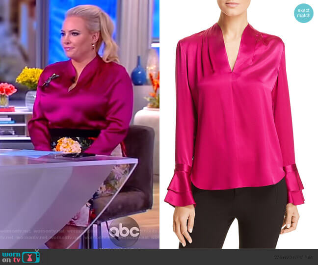 Judith Silk Blouse by Elie Tahari worn by Meghan McCain  on The View