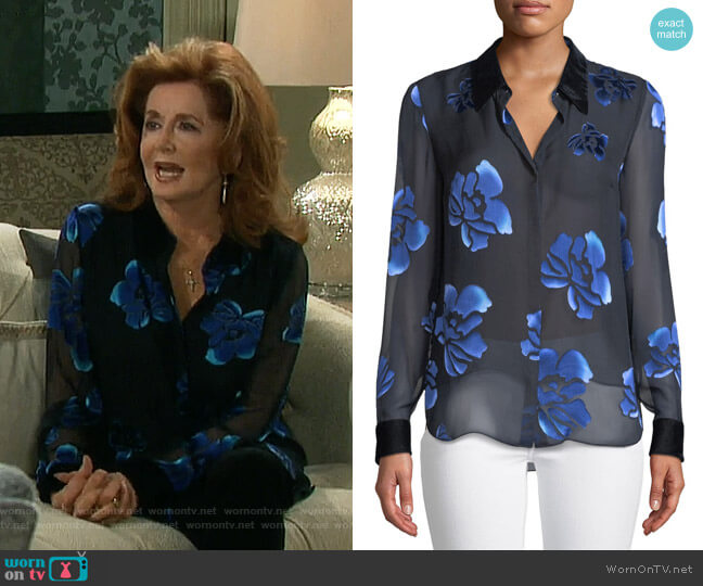 Martha Blouse by Elie Tahari worn by Maggie Horton (Suzanne Rogers) on Days of our Lives