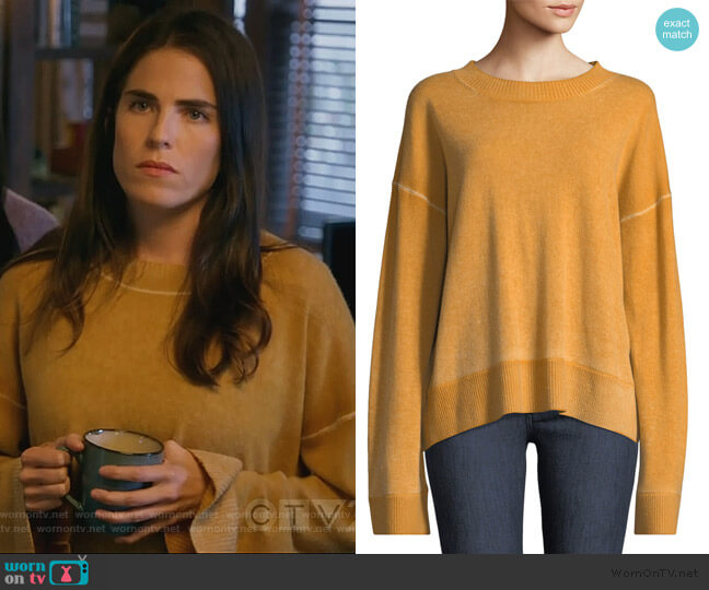 Oliver Sweater by Elizabeth and James worn by Laurel Castillo (Karla Souza) on HTGAWM