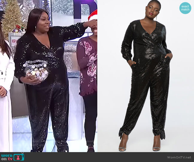 Sequin Jumpsuit by Eloquii worn by Loni Love  on The Real