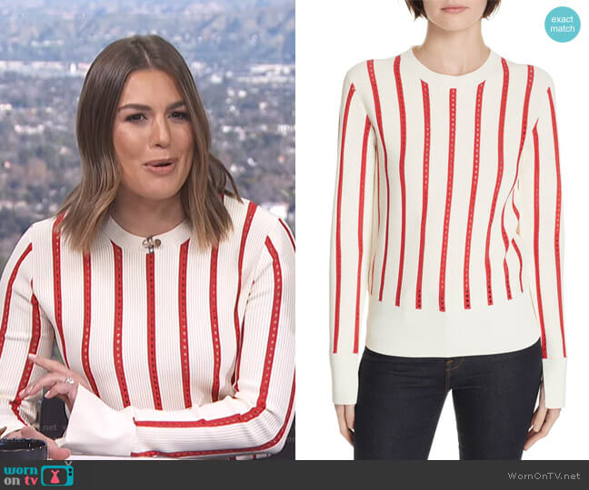 Amrit Sweater by Equipment worn by Carissa Loethen Culiner  on E! News