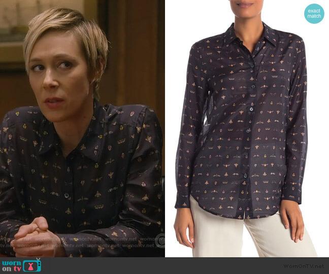 Essential Button Up Blouse by Equipment worn by Bonnie Winterbottom (Liza Weil) on HTGAWM