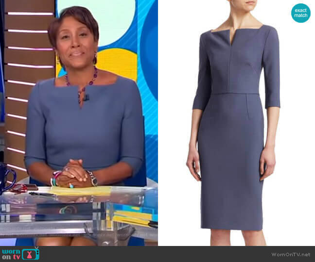 Etty Dress by Roland Mouret worn by Robin Roberts (Robin Roberts) on Good Morning America