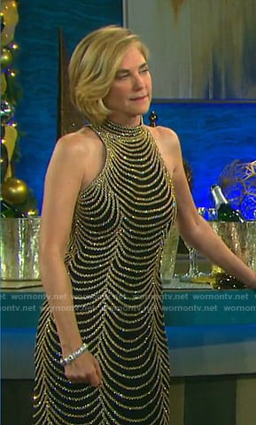 Eve's embellished chain gown on Days of our Lives