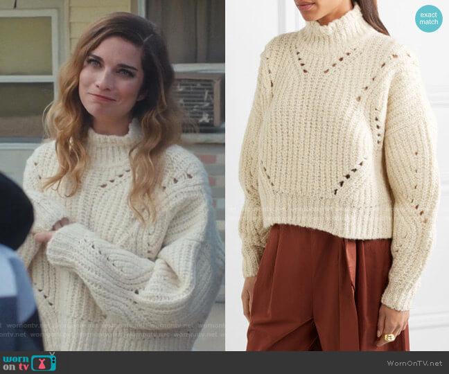 Farren Sweater by Isabel Marant worn by Alexis Rose (Annie Murphy) on Schitts Creek