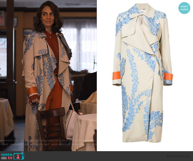 Fil Coupe Organza Oversized Coat by Fendi worn by Samantha Delmonico (Annie Parisse) on Friends from College