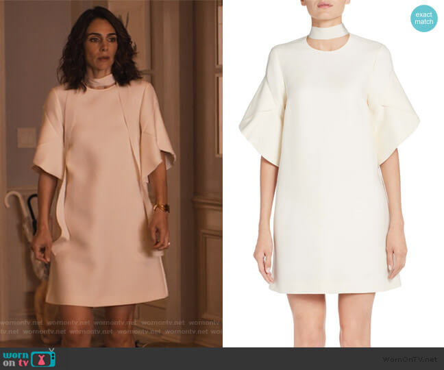 Wool & Silk Gazar Shift Dress by Fendi worn by Samantha Delmonico (Annie Parisse) on Friends from College