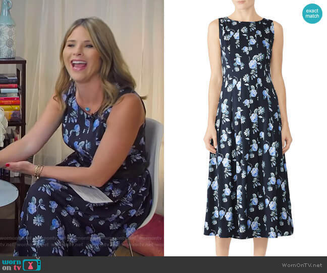 Flowy Pleat Dress by Becken worn by Jenna Bush Hager  on Today