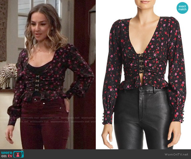 For Love & Lemons Isabella Top worn by Kristina Corinthos (Lexi Ainsworth) on General Hospital