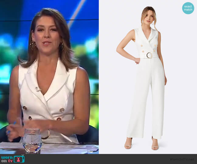 Jayde Tux Jumpsuit by Forever New worn by Gorgi Coghlan (Gorgi Coghlan) on The Project