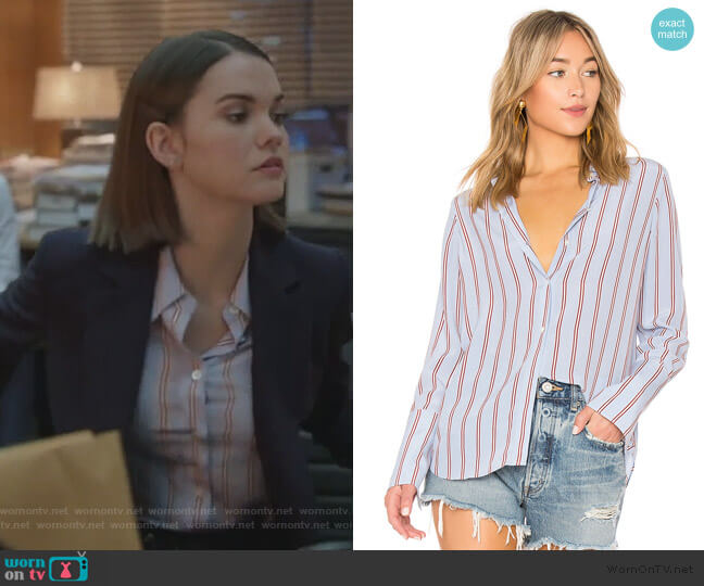 Long Cuff PJ Blouse by Frame worn by Callie Foster (Maia Mitchell) on Good Trouble