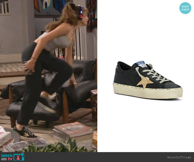 Hi Star Leather Sneakers by Golden Goose worn by Shannon (Odessa Adlon) on Fam