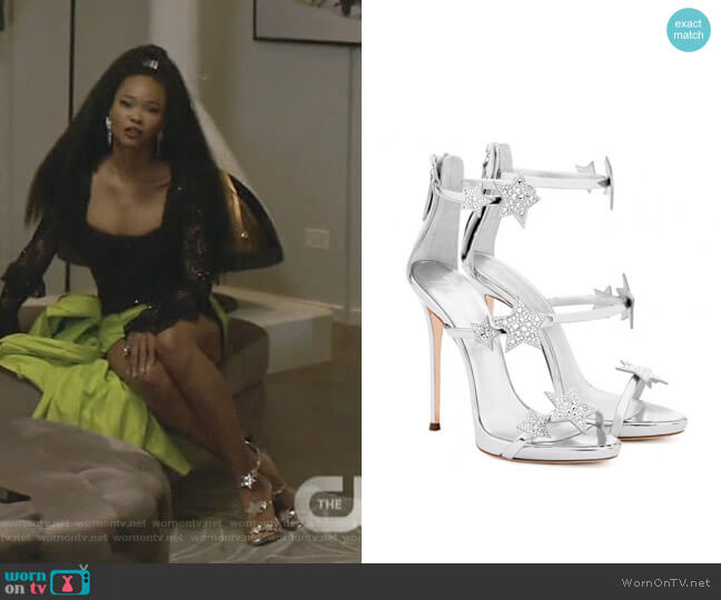 Harmony Star Sandals by Giuseppe Zanotti  worn by Monica Colby (Wakeema Hollis) on Dynasty