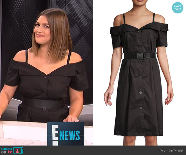 Cold-Shoulder Cotton Knee-Length Dress by Grey Lab worn by Carissa Loethen Culiner  on E! News