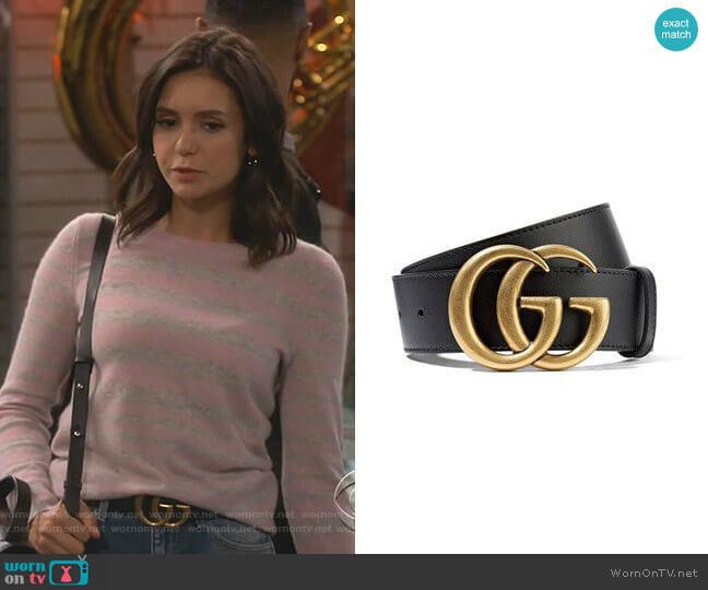 Cintura Donna Leather Belt by Gucci worn by Clem (Nina Dobrev) on Fam