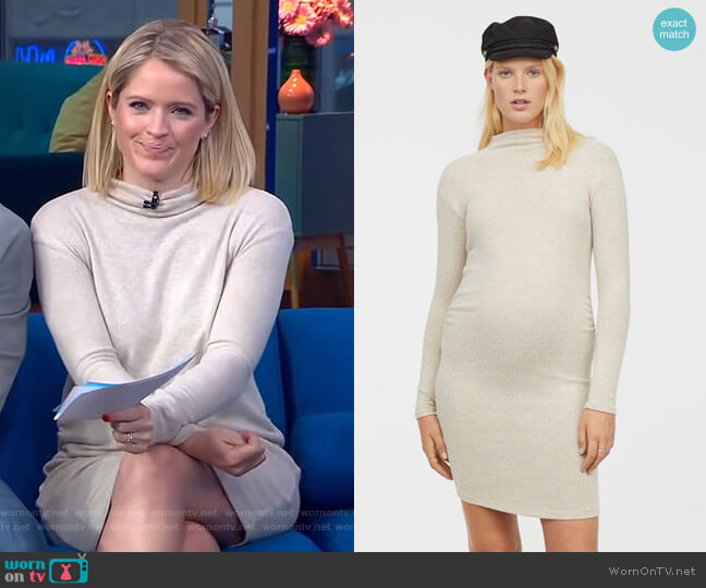 Dress: Mama Fine-Knit Dress by H&M worn by Sara Haines  on Good Morning America