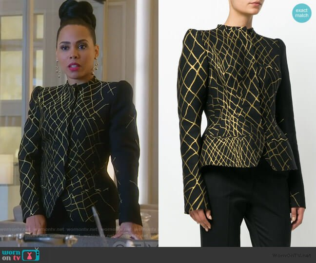 Hourglass Fitted Jacket by Haider Ackermann worn by Tegan Price (Amirah Vann) on HTGAWM