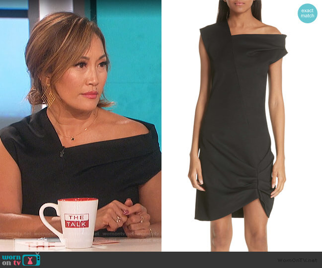 Asymmetrical Drape Dress by Helmut Lang worn by Carrie Inaba  on The Talk