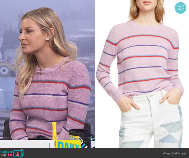 Gian Sweater by Isabel Marant Etoile worn by Morgan Stewart  on E! News