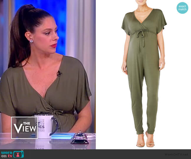 Maternity Cross-Front Jersey Jumpsuit by Ingrid & Isabel worn by Abby Huntsman  on The View