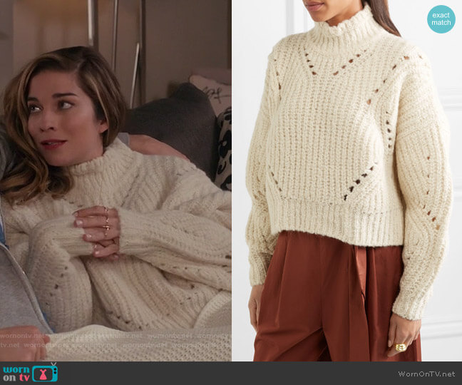 Farren Sweater by Isabel Marant worn by Alexis Rose (Annie Murphy) on Schitts Creek