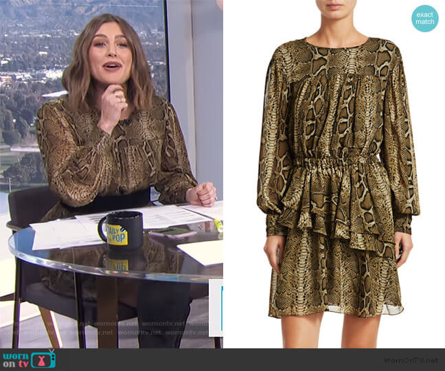 Java Python Print Mini A-Line Dress by Isabel Marant Etoile worn by Carissa Loethen Culiner  on E! News