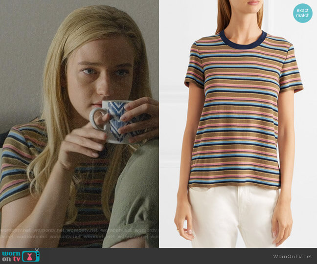 Vintage Boy Striped T-shirt by James Perse worn by Terra Newell (Julia Garner) on Dirty John