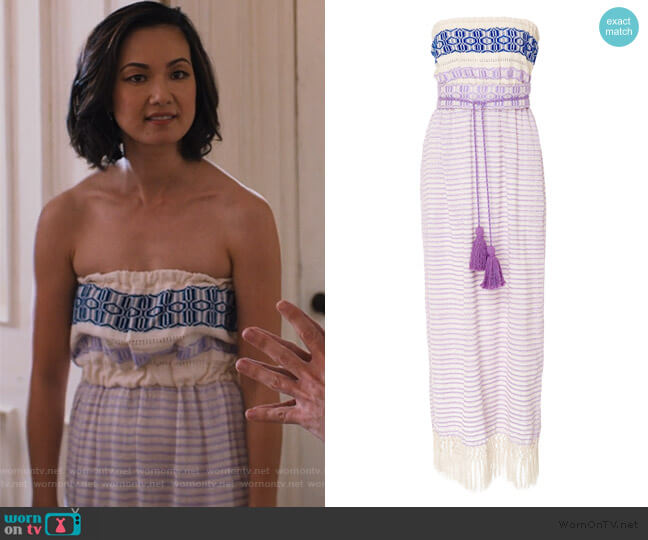 Irina Strapless Dress by Jaline worn by Marianne (Jae Suh Park) on Friends from College