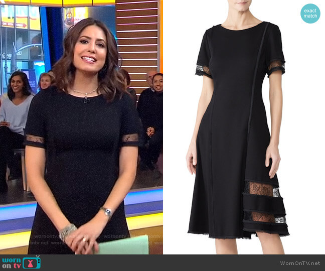 Lace Panel Dress by Jason Wu worn by Cecilia Vega  on Good Morning America
