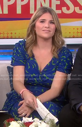 Jenna's blue and green printed dress on Today