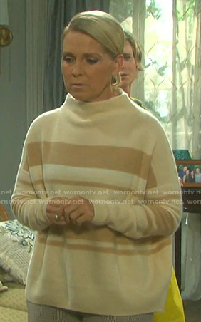 Jennifer's beige striped sweater on Days of our Lives