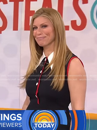 Jill's black sleeveless collared mini dress on Today