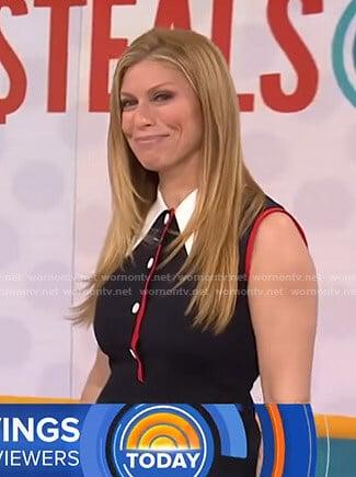 Jill's black sleeveless collared mini dress on Today